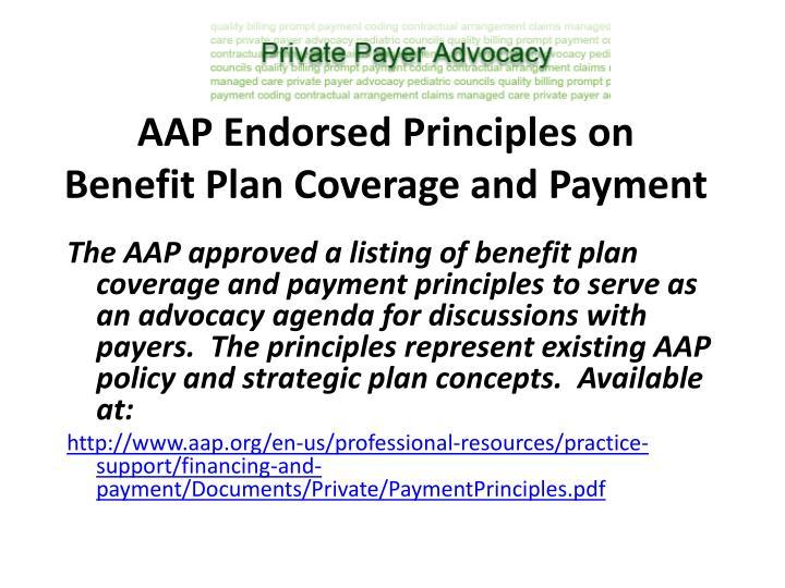 AAP Endorsed Principles on