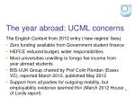 the year abroad ucml concerns