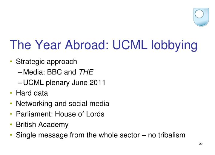 The Year Abroad: UCML lobbying