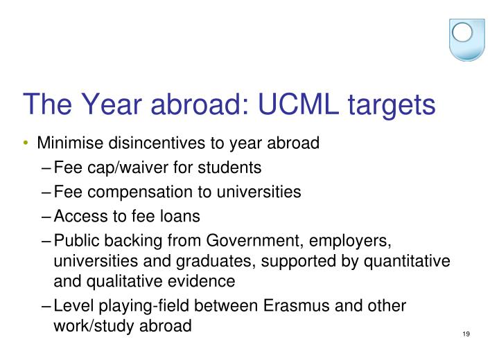 The Year abroad: UCML targets