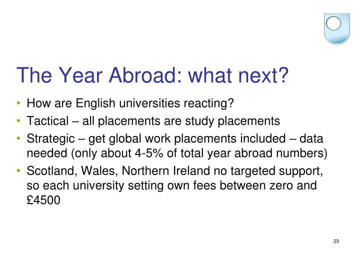 The Year Abroad: what next?