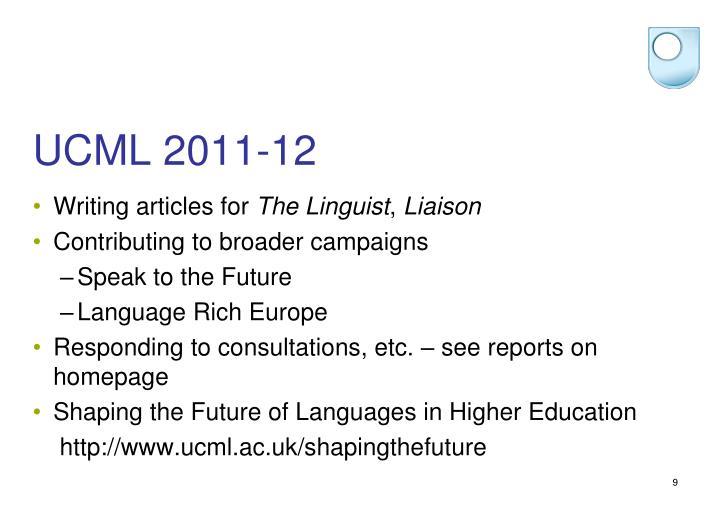 UCML 2011-12
