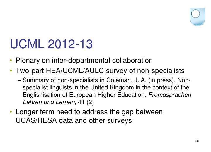 UCML 2012-13