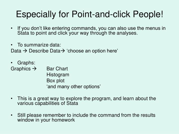 Especially for Point-and-click People!