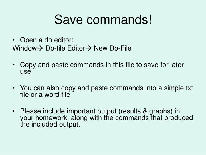 Save commands!