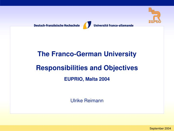 The Franco-German University