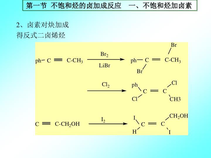第一节 不饱和烃的卤加成反应