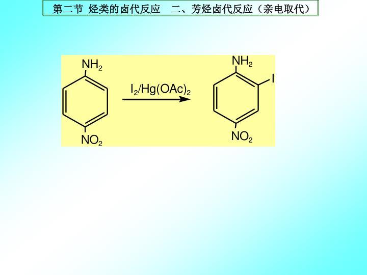 第二节 烃类的卤代反应