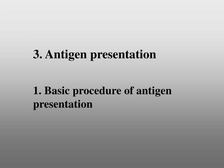 3. Antigen presentation