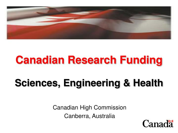 Canadian research funding