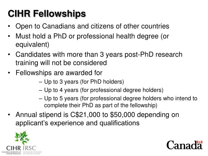 CIHR Fellowships
