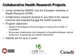 collaborative health research projects