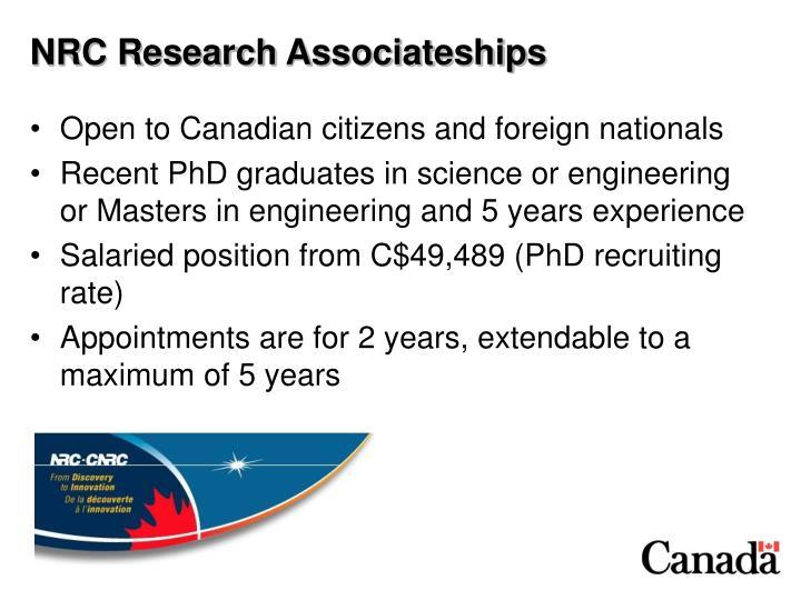 NRC Research Associateships