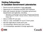 visiting fellowships in canadian government laboratories