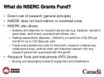 what do nserc grants fund