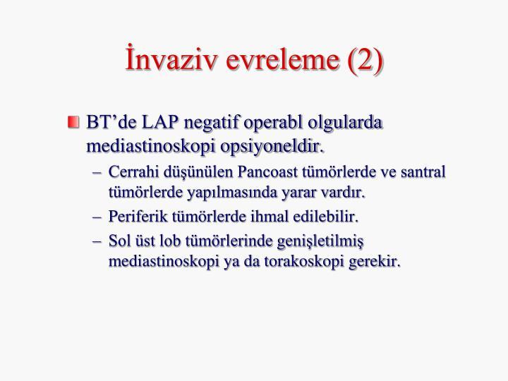 İnvaziv evreleme (2)