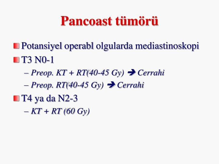 Pancoast tümörü