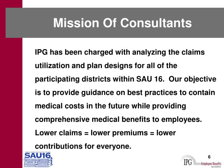 Mission Of Consultants