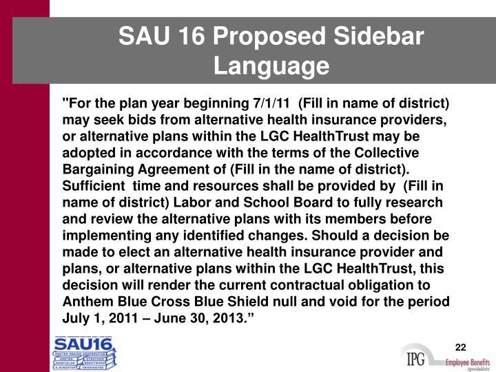 SAU 16 Proposed Sidebar Language