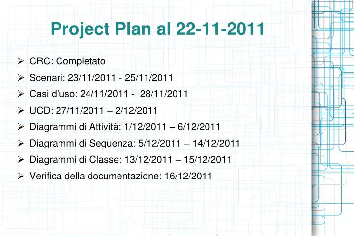 Project Plan al 22-11-2011