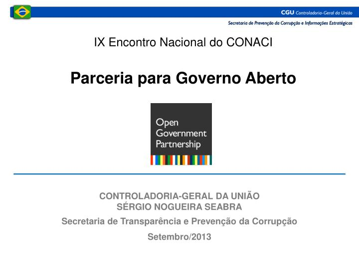 IX Encontro Nacional do CONACI