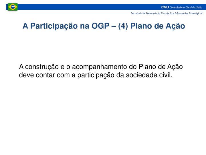 A Participação na OGP – (4) Plano de Ação