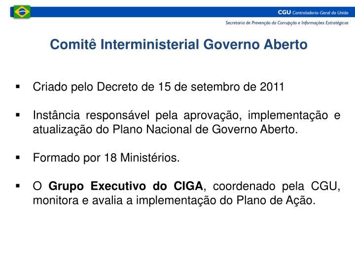 Comitê Interministerial Governo Aberto