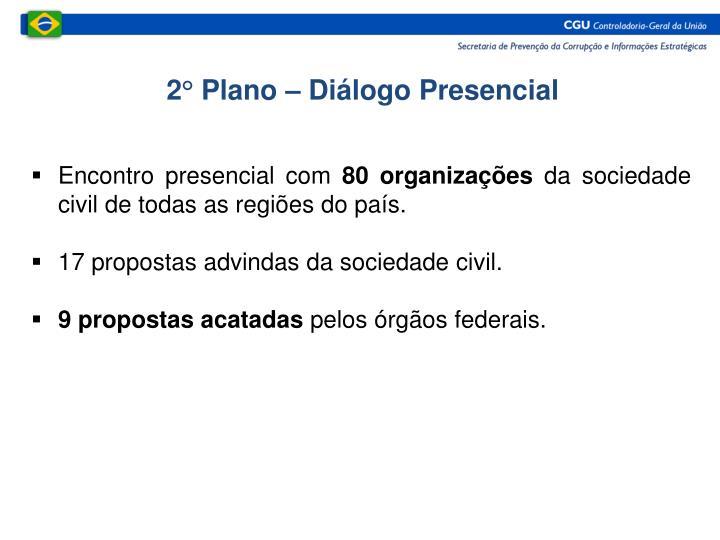 2° Plano – Diálogo Presencial
