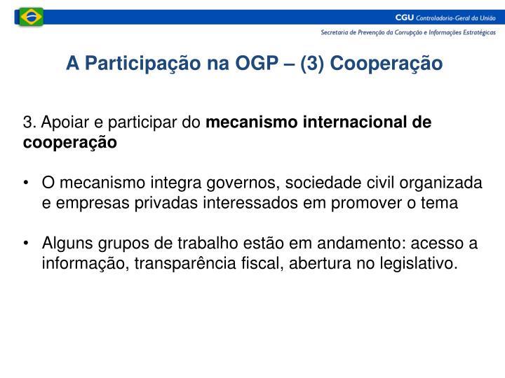 A Participação na OGP – (3) Cooperação