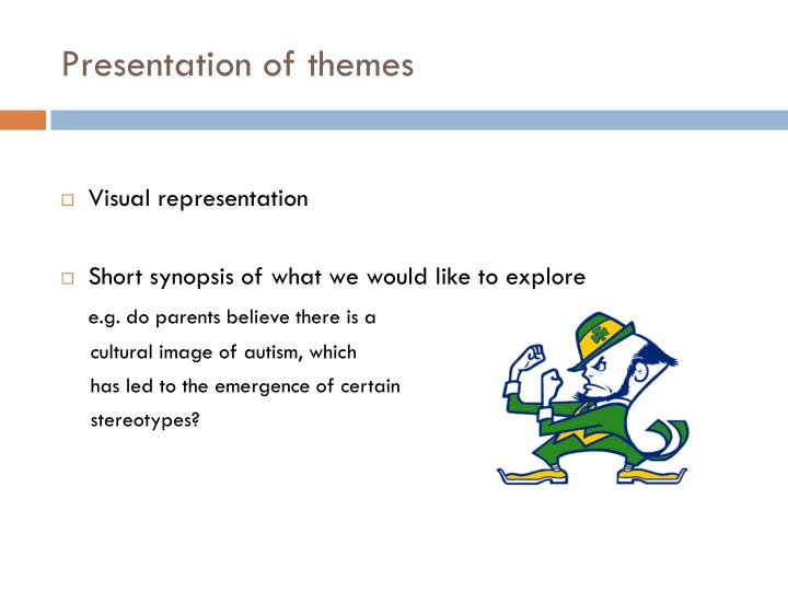 Presentation of themes