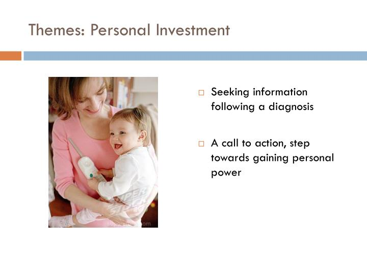 Themes: Personal Investment