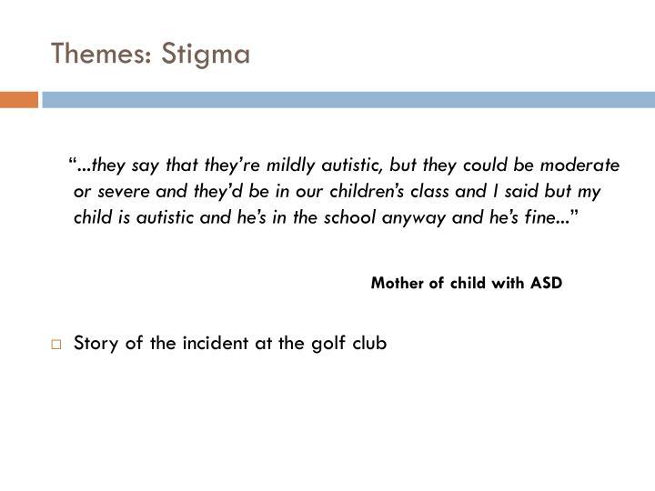 Themes: Stigma
