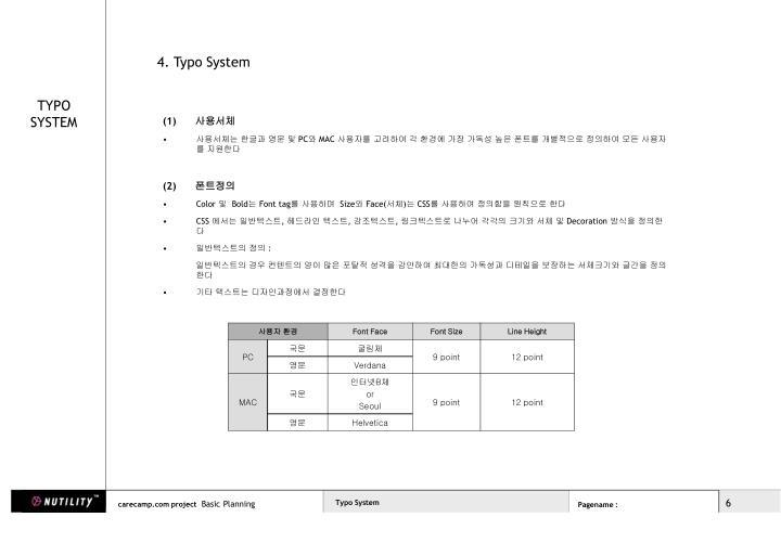 4. Typo System