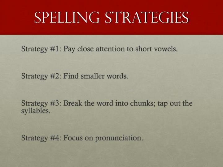 Spelling strategies1