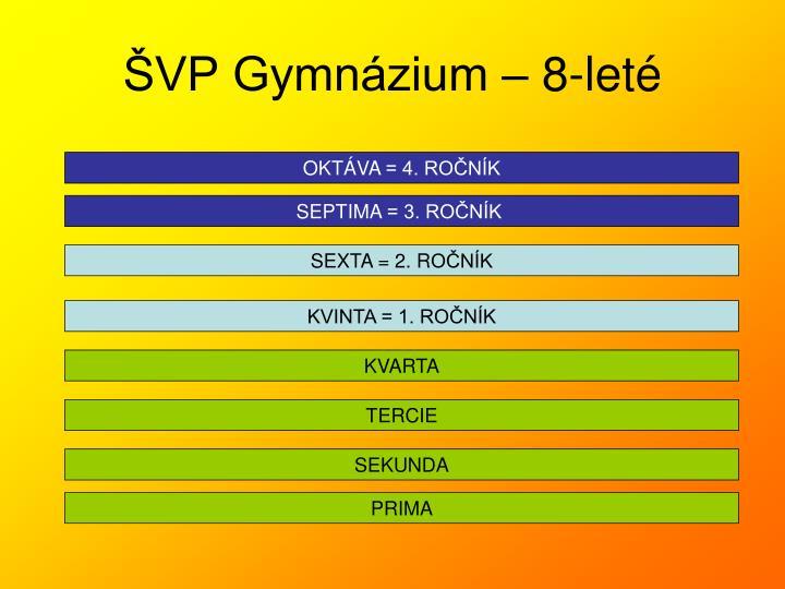 ŠVP Gymnázium – 8-leté