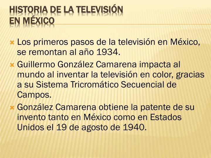 Los primeros pasos de la televisión en México, se remontan al año 1934.