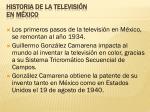 historia de la televisi n en m xico
