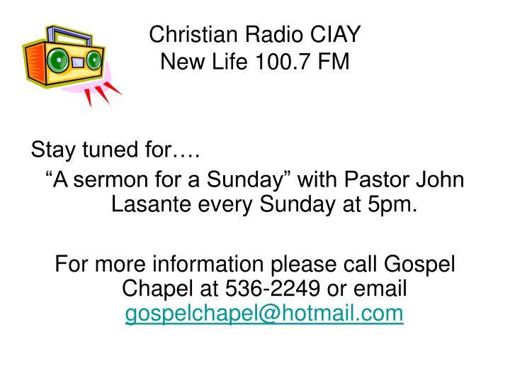 Christian Radio CIAY