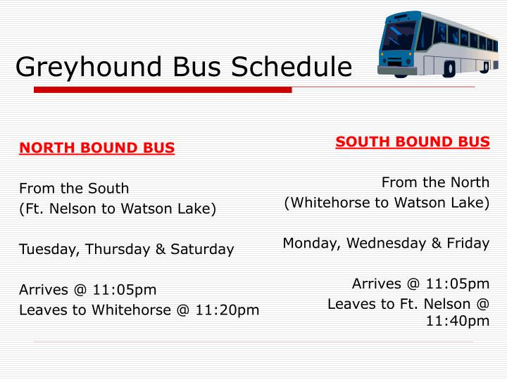 NORTH BOUND BUS
