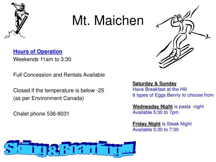 Mt. Maichen
