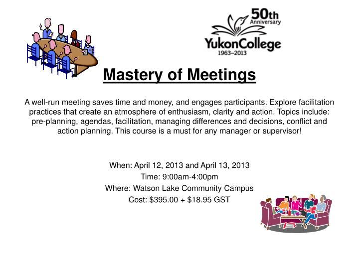 Mastery of Meetings
