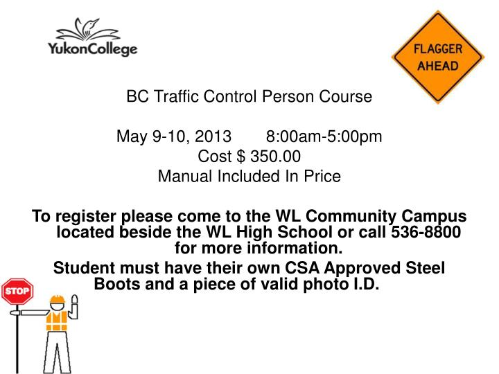 BC Traffic Control Person Course