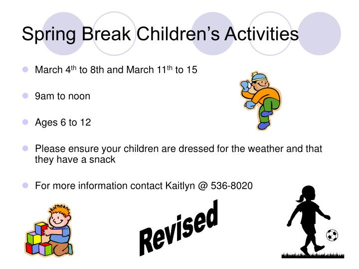 Spring Break Children's Activities