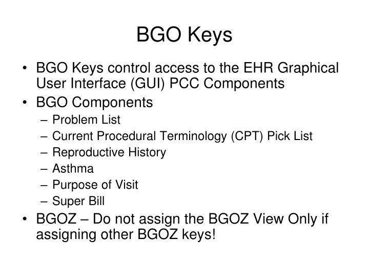 BGO Keys