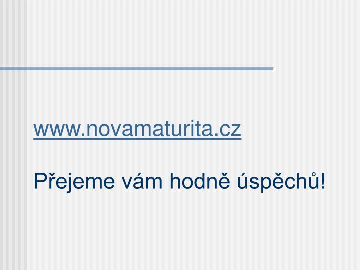 www.novamaturita.cz