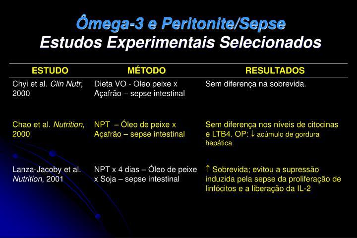 Ômega-3 e Peritonite/Sepse