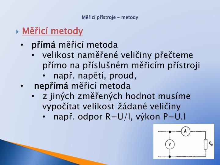 Měřicí přístroje - metody
