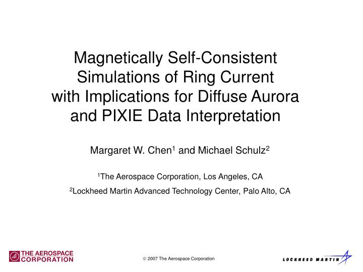 Magnetically Self-Consistent