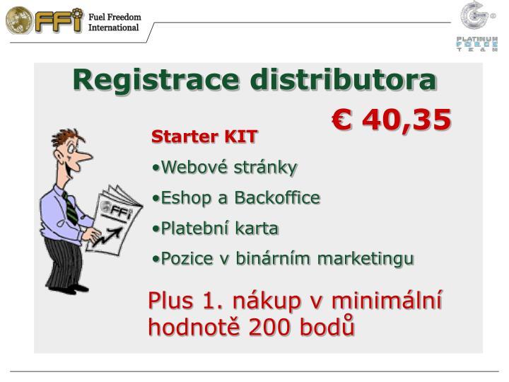 Registrace distributora