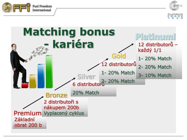 Matching bonus - kariéra